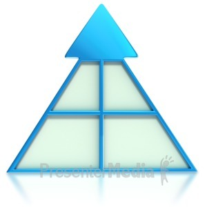 ID# 3722 - Sectional Arrow Pyramid  - Presentation Clipart