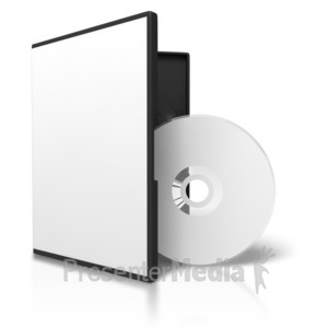 ID# 3723 - Blank Dvd Case Disc Display - Presentation Clipart