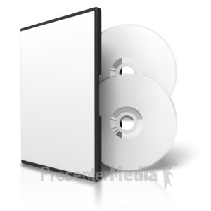 ID# 3725 - Two Dvds And Blank Case - Presentation Clipart