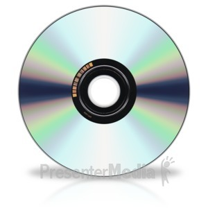 ID# 3727 - Back Of Cd Dvd Disk - Presentation Clipart