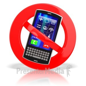 ID# 3744 - No Cell Phones  - Presentation Clipart