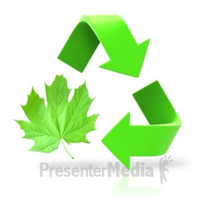 ID# 3769 - Leaf Circle Recycle Arrows - Presentation Clipart