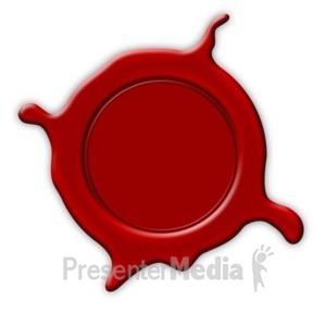ID# 3806 - Wax Stamp Seal Splat - Presentation Clipart