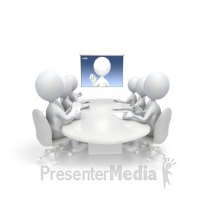 ID# 3834 - Video Conference - Presentation Clipart