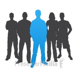 ID# 3839 - Man Leader Casual Silhouette - Presentation Clipart