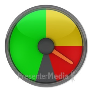 ID# 3866 - Red Gauge Indicator - Presentation Clipart
