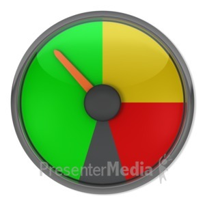 ID# 3867 - Green Gauge Indicator - Presentation Clipart