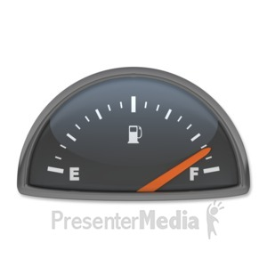 ID# 3889 - Fuel Gauge Full - Presentation Clipart