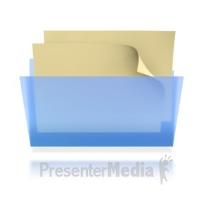 ID# 3906 - Transparent File Folder  - Presentation Clipart
