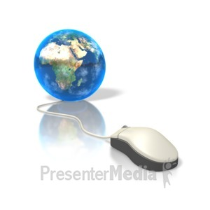 ID# 3908 - Global Mouse Africa - Presentation Clipart