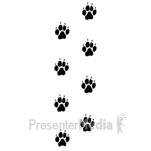 ID# 3936 - Dog Footprints Trail - Presentation Clipart
