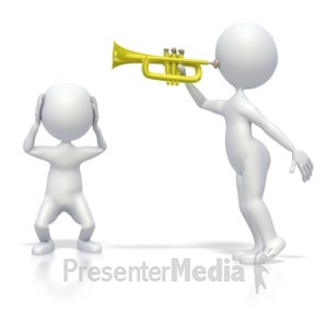 ID# 3958 - Annoying Trumpet Sound - Presentation Clipart