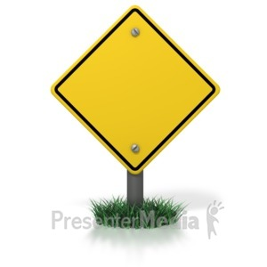 ID# 3965 - Blank Caution Sign - Presentation Clipart