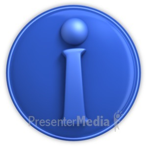 ID# 3981 - Information Icon - Presentation Clipart