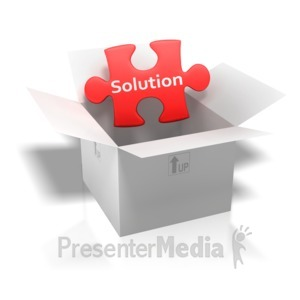 ID# 3988 - Solution Puzzle Piece Box - Presentation Clipart