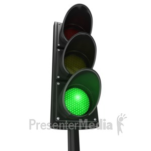 ID# 3989 - Traffic Light Green Go - Presentation Clipart