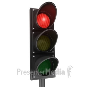 ID# 3991 - Traffic Light Red Stop - Presentation Clipart