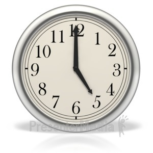ID# 3993 - Five o'clock - Presentation Clipart