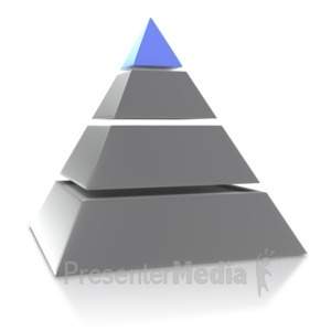 ID# 4025 - Four Point Pyramid - Presentation Clipart