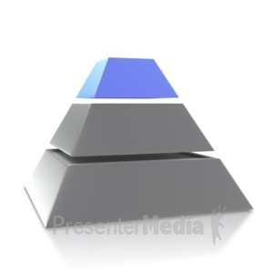 ID# 4032 - Four Point Pyramid Third Level - Presentation Clipart