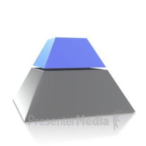 ID# 4052 - Three Point Pyramid Second Level - Presentation Clipart