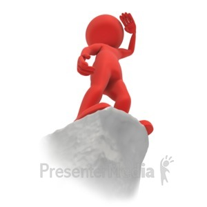 ID# 4133 - Stick Figure Cliff Vision - Presentation Clipart