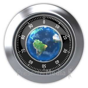 ID# 4147 - Secure World  - Presentation Clipart