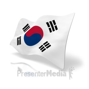 ID# 4177 - South Korea Flag - Presentation Clipart