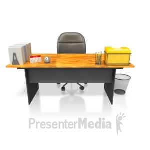 ID# 4230 - Clean Neat Desk  - Presentation Clipart