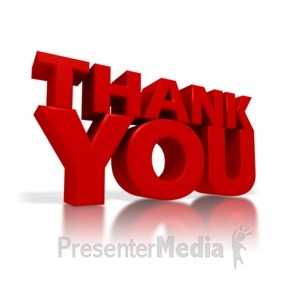ID# 4252 - Thank You - Presentation Clipart