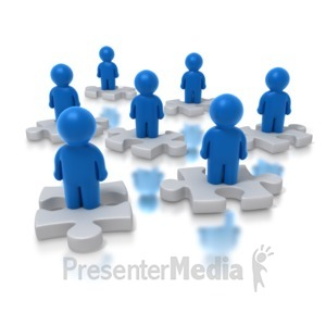 ID# 4253 - People Puzzle - Presentation Clipart
