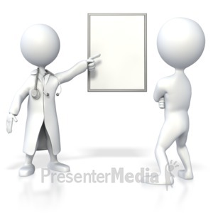 ID# 4267 - Doctor Showing Blank Chart  - Presentation Clipart