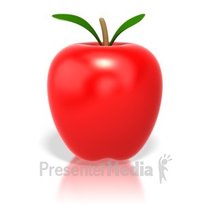 ID# 4270 - Shinny Apple - Presentation Clipart