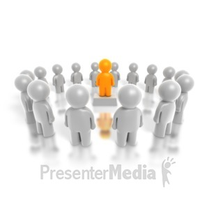 ID# 4274 - Center Leader - Presentation Clipart