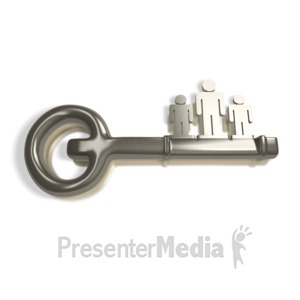 ID# 4277 - People Are Key - Presentation Clipart