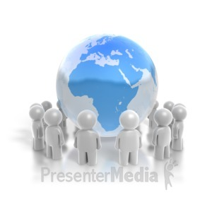 ID# 4280 - People Ring the Earth - Presentation Clipart