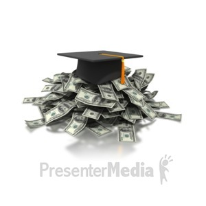 ID# 4306 - Graduation Costs Money - Presentation Clipart