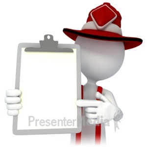 ID# 4320 - Firefighter Point Chart - Presentation Clipart