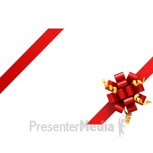 ID# 4321 - Gift Ribbon Corners - Presentation Clipart