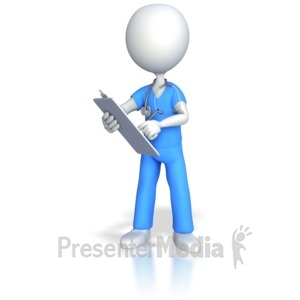 ID# 4344 - Nurse Doctor Surgeon Charting - Presentation Clipart