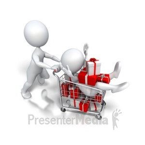 ID# 4353 - Holiday Shopping Jackpot - Presentation Clipart