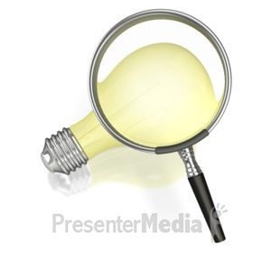 ID# 4364 - Searching for an Idea - Presentation Clipart