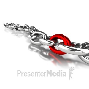 ID# 4387 - Shiny Chain Link - Presentation Clipart