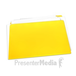 ID# 4430 - Blank Yellow Folder Documents - Presentation Clipart