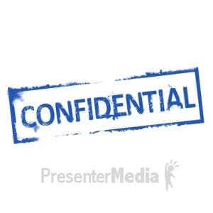 ID# 4433 - Confidential Rubber Stamp - Presentation Clipart