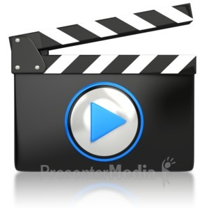 ID# 4466 - Movie Video Media Icon  - Presentation Clipart