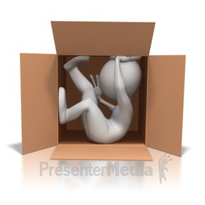 ID# 4521 - Stick Figure Close Quarters - Presentation Clipart