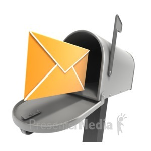 ID# 4529 - Mailbox Open Letter Inbox - Presentation Clipart
