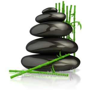 ID# 4568 - Relaxing Zen Massage Stones  - Presentation Clipart