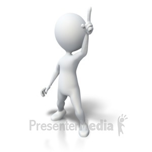 ID# 4591 - Stick Figure Standing Great Idea - Presentation Clipart
